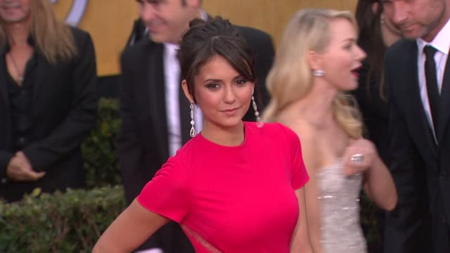 Nina Dobrev at 19th Annual Screen Actors Guild Awards Arrivals on 1/27/13 in Los Angeles CA