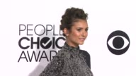Nina Dobrev at the 40th Annual People's Choice Awards Arrivals at Nokia Theatre LA Live on in Los Angeles California