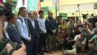 Nine Umbrella Movement protesters including key leaders Chan Kin mam Benny Tai and Chu Yiu ming appear in court on public nuisance charges relating...