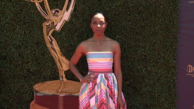 Nischelle Turner at the 44th Annual Daytime Emmy Awards at Pasadena Civic Auditorium on April 30 2017 in Pasadena California