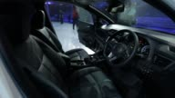 Nissan Motor Co's new Leaf electric vehicle interiors at the unveiling in Chiba Japan on Wednesday Sept 6 2017 Photographer Kiyoshi Ota Shots shot of...