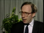UN 'No Fly'' zone ENGLAND CMS Malcolm Rifkind MP intvwd SOF UN cannot simply stop a war/ people don't want tens of thousands of UN troops in Bosnia