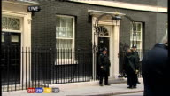 1230 1330 No10 Downing Street with police on duty outside Election workers counting votes