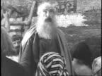 1923 REENACTMENT Noah speaking to the men building his ark
