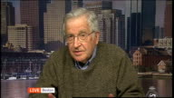 London GIR INT Noam Chomsky LIVE 2WAY interview from Boston Massachusetts SOT On conflict in Syria and the case for foreign intervention / on Syrian...