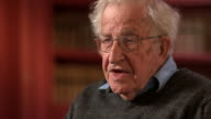 Noam Chomsky saying one of the critical features of the neoliberal era has been the enormous growth of financial institutions which 'contribute...