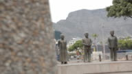 Nobel Peace laureate statues at the VA Waterfront Cape Town is home to the iconic Table Mountain and is known for it's beaches and Summer lifestyle