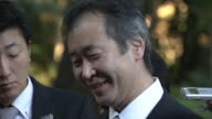"Nobel Prize winner Japanese scientist Takaaki Kajita responding to an interview ""I was way too excited last night and I couldn't get enough sleep so..."