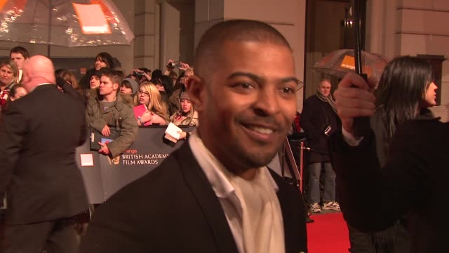 Noel Clarke on being happy to be there and going to the after party at the The Orange British Academy Film Awards at London
