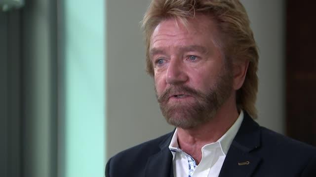 Noel Edmonds' court case against Lloyds Bank London INT Noel Edmonds interview SOT