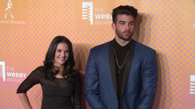 Nomiki Konst and Hasan Piker at The 21st Annual Webby Awards Arrivals at Cipriani Wall Street on May 15 2017 in New York City