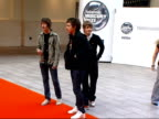 Nominated bands arrive for Mercury music prize awards EXT Arctic Monkeys arriving at awards and only staying briefly on red carpet for press before...