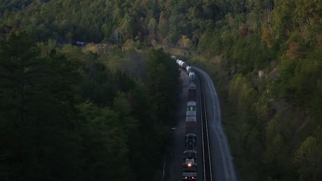 Norfolk Southern Corp freight trains are pictured traveling on tracks in Tateville Kentucky US on Tuesday Oct 17 2017 Photographer Luke Sharrett...