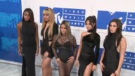 Normandi Kordei Dinah Jane Hansen Ally Brooke Camila Cabello and Lauren Jauregui at 2016 MTV Video Music Awards Arrivals at Madison Square Garden on...