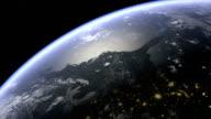 North America nad USA senn above earth