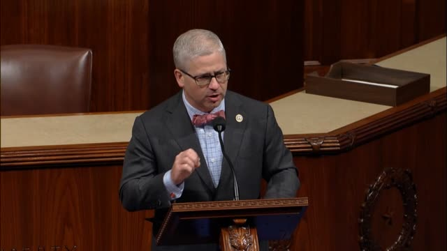North Carolina Congressman Patrick McHenry participates in debate on the Tax Cuts and Jobs Act calling it a vitally important bill that would help...