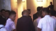 North Korea responds with defiance to new international sanctions PHILIPPINES Manila Back view of Ri Yongho and others away Reporter shouting...