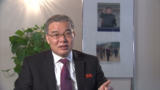 North Korea's ambassador to the UK has told Sky News his country can fire a nuclear weapon 'at any time' Hyun Hakbong also described those who defect...