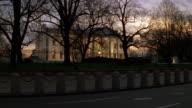 MS North lawn of white house at sunrise / Washington D.C., United States