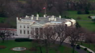 WS AERIAL North lawn of white house / Washington D.C., United States