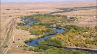 North Platte River  - Aerial View - Wyoming, Natrona County, United States