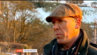 North Wales suffers livestock loss due to cold weather WALES Llanfairfechan Gareth Wyn Jones interview SOT / Sheep and lambs in field