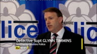 CCTV images of suspect releaased ENGLAND Northamptonshire INT Detective Superintendent Glynn Timmins press conference SOT