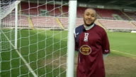 Ikechi Anya ENGLAND Northamptonshire Northampton EXT Anya training with Northampton Town team mates Anya interview SOT Talks about what he wants from...