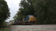 A Northbound CSX Transportation Inc auto rack freight train passes through Bonnieville Kentucky US on Thursday October 1 2015 CSX Transportation is...
