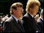 David Trimble resignation ITN FRANCE Somme MS David Trimble singing hymn during service ZOOM IN GVs Band playing in front of memorial MS David...