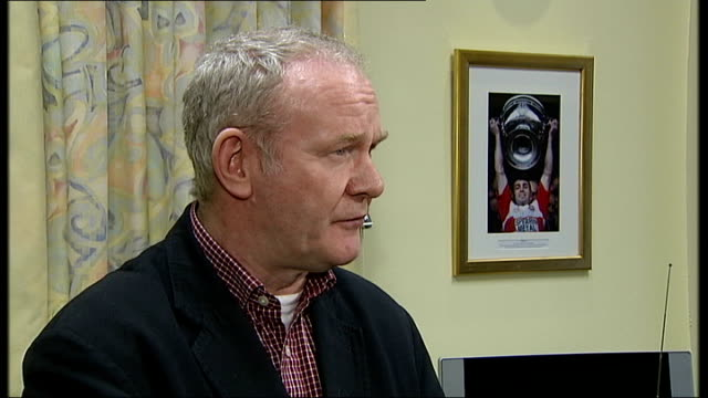 Martin McGuinness interview Northern Ireland Belfast INT Deputy First Minister Martin McGuinness interview SOT It [killing of two British soldiers by...