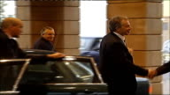 Tony Blair arrival and press conference with Bertie Ahern **BEWARE SCOTLAND Fife St Andrew's Fairmont Hotel EXT Prime Minister Tony Blair MP arriving...