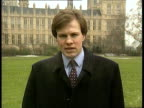 Northern Ireland peace talks Mitchell in London EXT CMS Tom Bradby i/c SOT and sign off