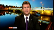 Protests held as Marie Stopes abortion clinic opens in Belfast NORTHERN IRELAND Belfast INT Jeffrey Donaldson MP interview SOT Marie Stopes clinic in...
