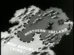MAP Northern Ireland w/ animated British crown lighting up