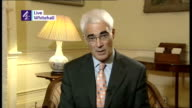 More customers demand their money ENGLAND London The Treasury INT Alistair Darling MP interview SOT Northern Rock is solvent and can carry on doing...
