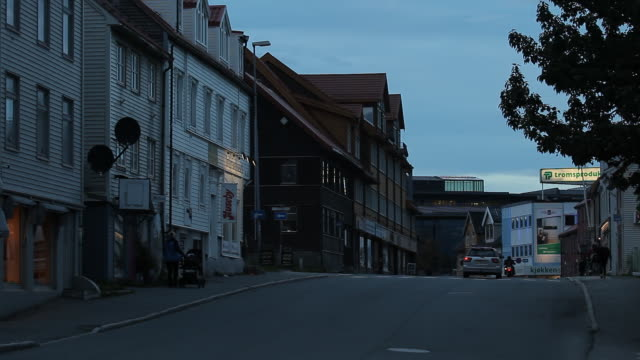 Norway. Tromse - The streets of a small town