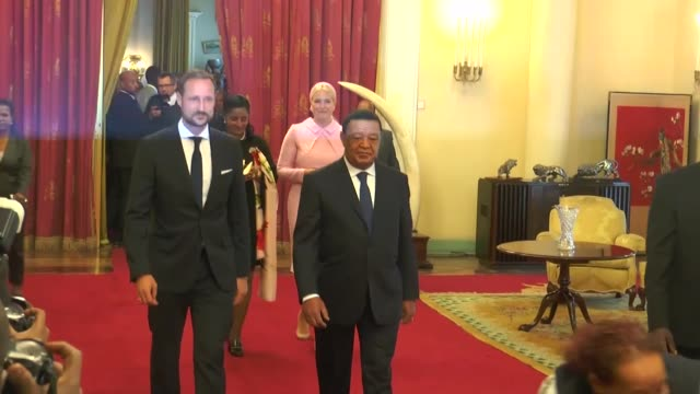 Norwegian Crown Prince Haakon meets Ethiopian President Mulatu Teshome Wirtu in Addis Ababa Ethiopia on November 07 2017