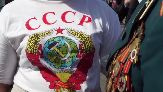 Nostalgic of the USSR young communists and neo Bolsheviks continue to dream in Russia of the bright future promised by the October Revolution 100...