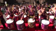 Ceremony in tribute to Grenfell Tower fire ENGLAND London Kensington Notting Hill Carnival EXT **Music heard intermittently SOT** Carnival performers...