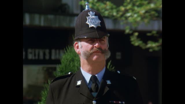 1981 - Nottingham - Tug Wilson, tallest man in the Nottinghamshire Constabulary