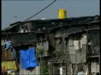 November 2007 MS Shack housing in slum area/ Mumbai India/ AUDIO