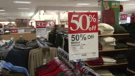 November 24 2009 PAN Merchandise in Kohl's department store with fifty percent off sale signs / United States