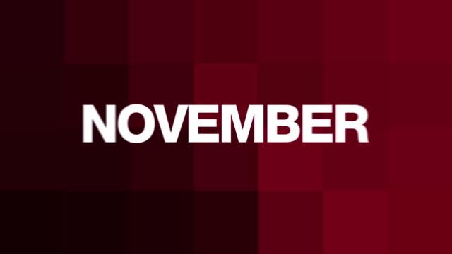 November Text Madness (HD Loop)