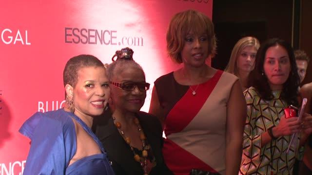 Ntozake Shange Faith Ringgold and Gayle King at the Essence Magazine 40th Anniversary Fierce Fabulous Awards Luncheon at New York NY