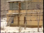 Nuclear contamination C4N RUSSIAN FED Mayak Nuclear Factory NIGHT/WINTER MS Security entrance with guard TRACK FORWARD DAY/WINTER CMS Barbed wire...