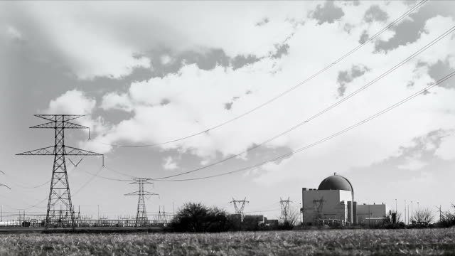 Nuclear Power Plant Black and White