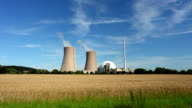 Nuclear Power Station and wheatfield