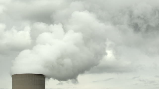 HD Nuclear Power Station Cooling Tower (Time Lapse)
