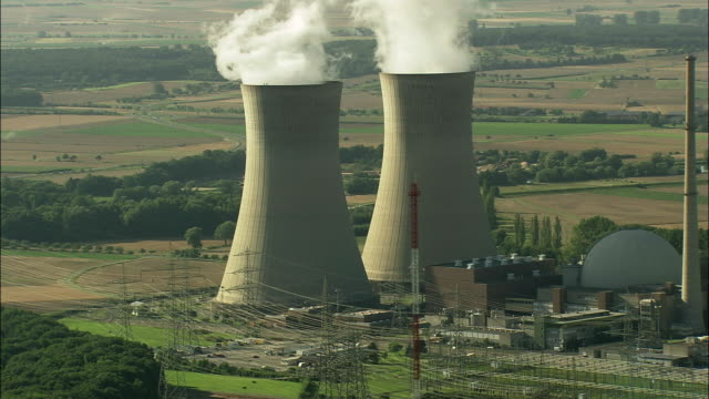 AERIAL Nuclear power station, Hergoslausen, Bavaria, Germany